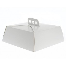 Tortenkarton Quadratisch Weiß 32,5x32,5x10 cm (50 Stück)