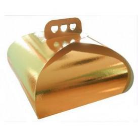 Gebäck Box Karton Golden Krawatte 275x275x140mm (50 Stück)