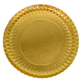 Pappteller Rund Golden 350 mm (200 Stück)