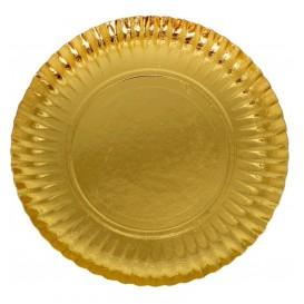 Pappteller Rund Golden 380 mm (50 Stück)