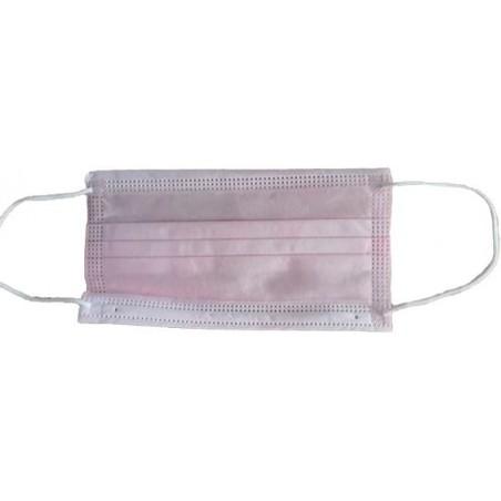 Mundschutz 3 lagig mit elastischen Ohrschlaufen Pink (50 Stück)