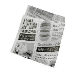 """Burgerpapier fettdicht offen 2S """"News"""" 15x16cm (4.000 Stück)"""