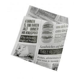 """Burgerpapier fettdicht offen 2S """"News"""" 15x16cm (250 Stück)"""