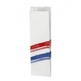 Papierbeutel für Baguette Streifen 10x4x33cm (1.000 Stück)