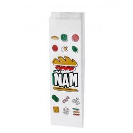 Papierbeutel für Baguette Ñam 10x4x33cm (125 Stück)