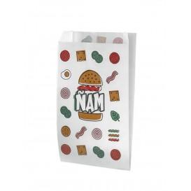 Burgerpapier fettdicht Ñam 14+5x23cm (125 Stück)