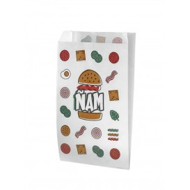 Burgerpapier fettdicht Ñam 14+5x23cm (1.000 Stück)