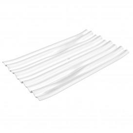 """Plastikteller PS """"Bamboo"""" weiß 10x6cm (50 Stück)"""