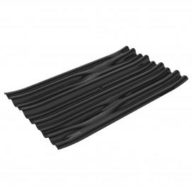 """Plastikteller PS """"Bamboo"""" Schwarz 10x6cm (50 Stück)"""