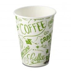 "Karton Kaffeebecher ""Bio"" 7Oz/220ml weiß (50 Stück)"