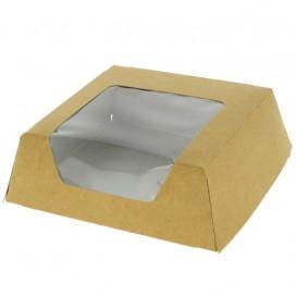 SnackBox mit Fenster Kraft Braun 120x120x40mm (25 Stück)