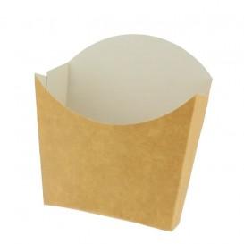 Kleine Pommesschütte Faltbox Kraft (600 Stück)