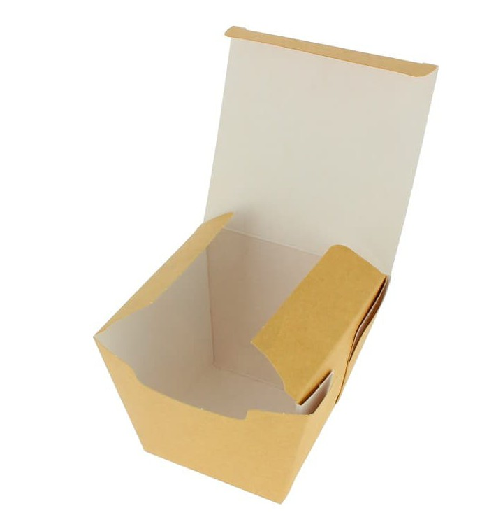 "Faltbox Pappe ""To Go"" Wok Kraft 450ml (300 Stück)"