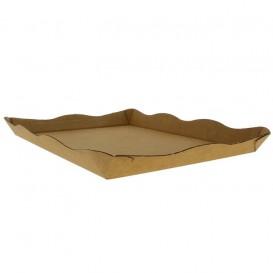 Papptablett für Catering oder Fast Food Kraft (10 Stück)