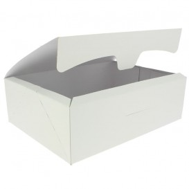 Gebäck Box weiß 25,8x18,9x8cm 2Kg (125 Stück)
