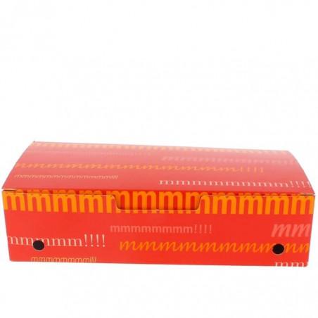SnackBox mit Deckel To Go Groß 200x100x50mm (25 Stück)