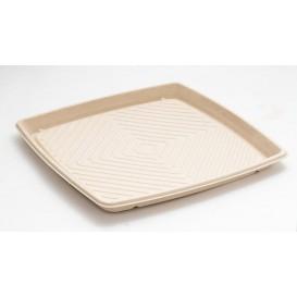Tablett Zuckerrohr Quadratisch Natürlich 36x36cm (5 Stück)