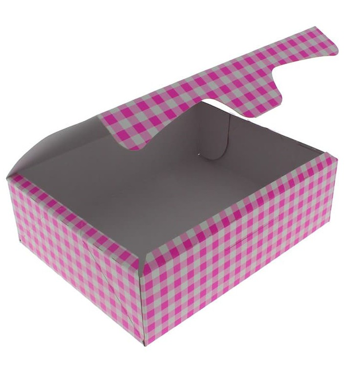 Gebäck Box pink 20,4x15,8x6cm 1kg (200 Stück)