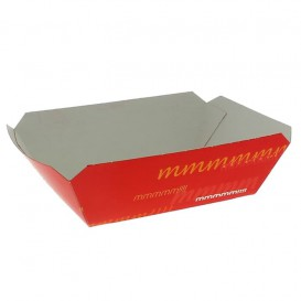 Pommesschale Pappe 250ml 9,6x6,5x4,2cm (1000 Stück)