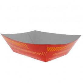 Pommesschale Pappe 525ml 12,1x8,1x5,5cm (25 Stück)