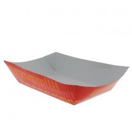 Pommesschale Pappe 300ml 11x7x3,5cm