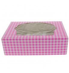 Cupcake Box für 6 Cupcakes 24,3x16,5x7,5cm pink
