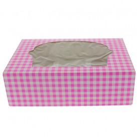 Cupcake Box für 6 Cupcakes 24,3x16,5x7,5cm pink (20 Stück)
