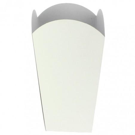 Medium Popcorn Box weiß 90gr. 7,8x10,5x18cm (25 Stück)