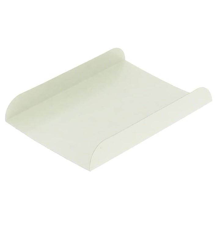 Pappschale weiß für Waffeln 13,5x10cm