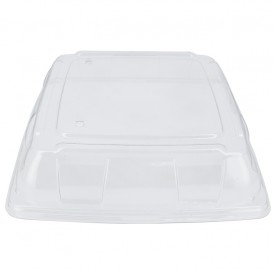 Plastikdeckel PET Transp. Tablett 31x31cm (25 Stück)