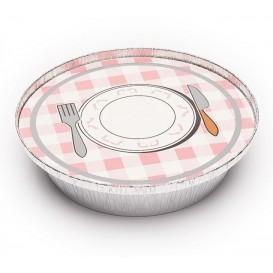 Pappdeckel für runde Aluschalen 800ml (600 Stück)