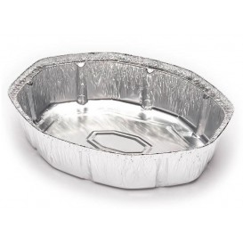 Aluschalen oval für Hähnchen 1900ml (125 Stück)