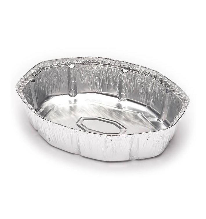 Aluschalen oval für Hähnchen 1900ml