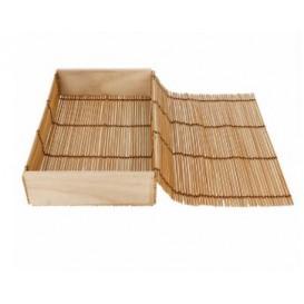 Schachtel aus Bambus für Sushi 23x13x4,5cm (1 Einh.)