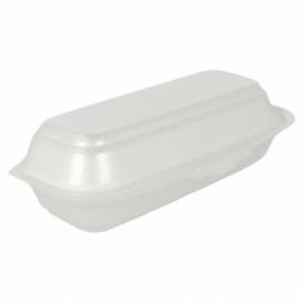 Verpackung Hot Dog Styropor weiß 210x105x640mm (125 Stück)