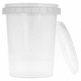 Verpackungsbecher aus Plastik mit Deckel 520ml Ø9,5 (19 Einh.)