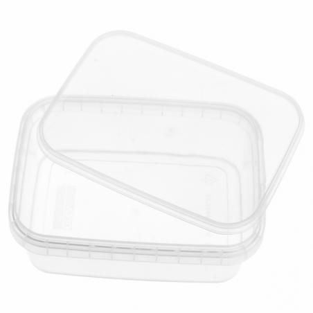 Verpackungsbecher aus Plastik mit Deckel 280ml 12x8cm (24 Einh.)
