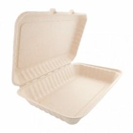 Verpackung Zuckerrohr-Fasern Natur 335x230x75mm (150 Einh)