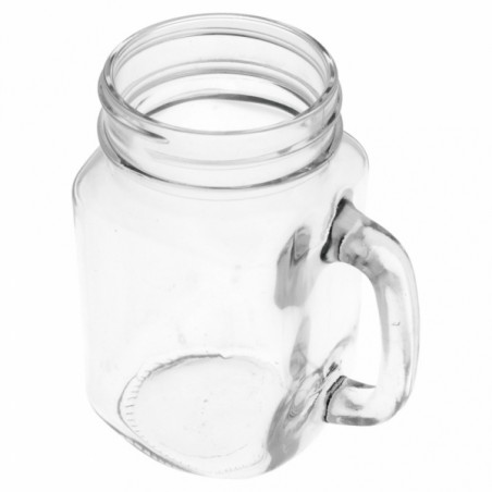 Glaskanne mit Deckel und Trinkhalm 450 ml (1 Stück)