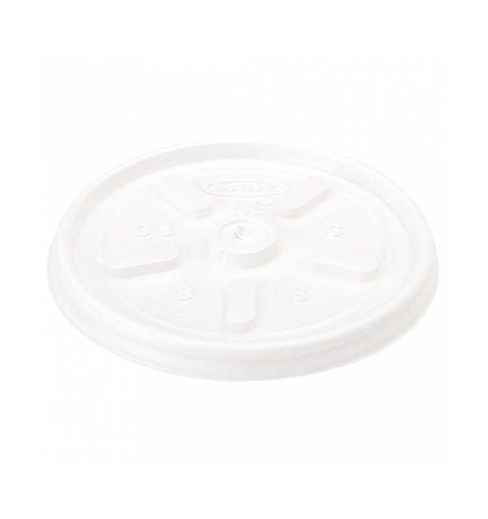 Flacher Deckel für Styroporbecher 4Oz/120ml Ø6,9cm (100 Stück)