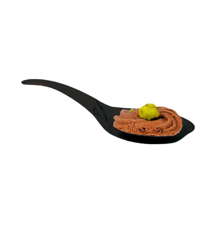 Häppchen-Löffel Plastik Schwarz 12cm (100 Stück)