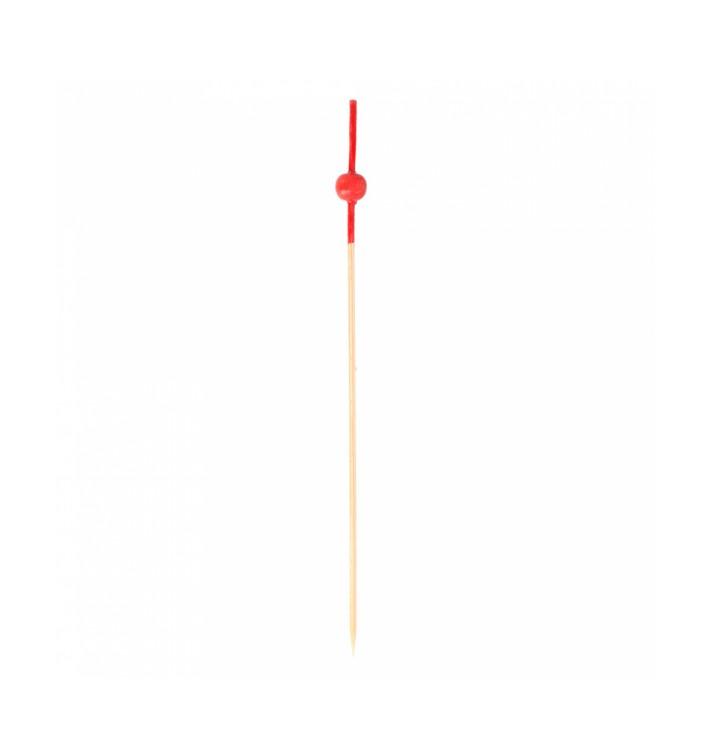 Bambusspieße Rote Kugel 120mm (100 Stück)