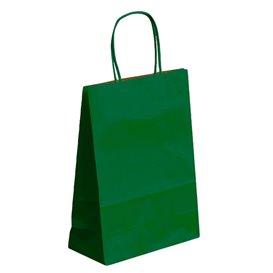 Papiertüten Kraft grün mit Henkeln 26+14x32cm (50 Stück)