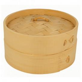 Bambusdämpfer mit Deckel Ø15x8cm (1 Stück)