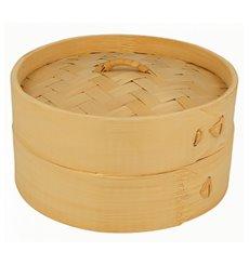 Bambusdämpfer mit Deckel Ø15x8cm (100 Stück)