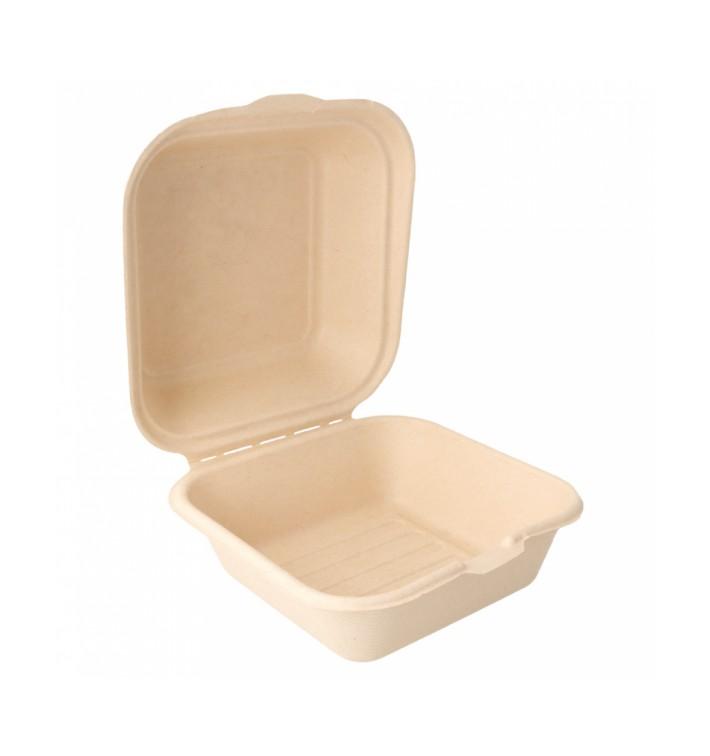 Burger-Box Zuckerrohr 152x152x84mm (50 Stück)