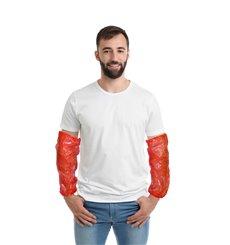Schutzärmel Polyetylen 18x44cm 20my Rot (100 Stück)