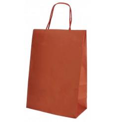 Papiertüten Kraft rot mit Henkeln 20+10x29cm (250 Stück)
