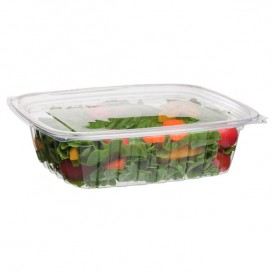 Plastickschale Kompostierbar PLA mit Deckel 710ml (50 Stück)