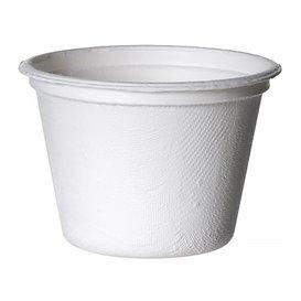 Soβenbecher aus Zuckerrohr Bagasse Weiß 120ml (1800 Stück)